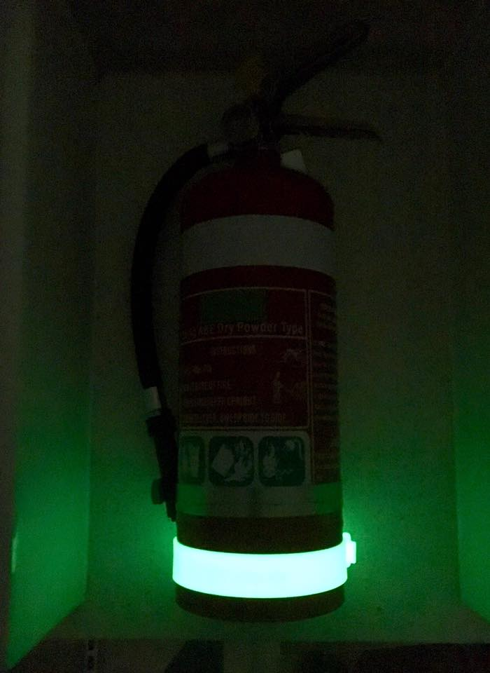 Fire Extinguisher Location Band All Glo Powerless